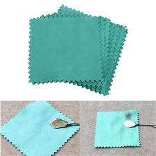Restores 10Pcs Jewelry Polishing Cleaning Cloth for Sterling Silver Blue