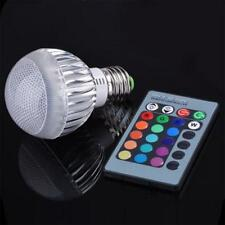 E27 15W RGB LED Light Color Changing Lamp Bulb With Remote Control 85-265V
