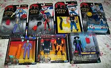 BATMAN ANIMATED 7 FIGURE LOT HARLEY QUINN TERRORCAST JOKER BANE BATGIRL MORE