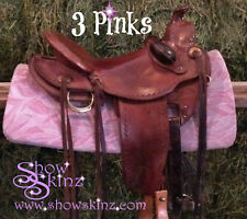 Show Skinz Saddle Pad Covers-Three Pinks Pattern
