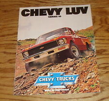Original 1980 Chevrolet Truck LUV Series 10 Sales Brochure 80 Chevy