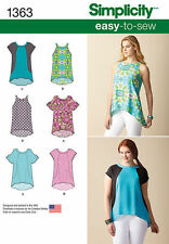 Simplicity 1363 Paper Sewing Pattern EASY-To-Sew Loose Fitting Top