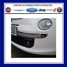 Genuine Fiat 500 / 500c Pair Of Chrome Effect Front Bumper Mouldings 50901686