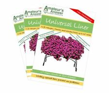 """Universal Planter, Trough, Manger & Window Box Liners - 3 Pack - Up to 48"""" Wide!"""