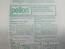 Pellon #806 Stitch n Tear Embroidery Stabilizer 20 Inch BY YARDS Craft Quilt Sew