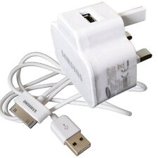 "DATA CABLE & USB MAINS CHARGER FOR SAMSUNG GALAXY TAB 7"" 8.9"" 10.1 "" NOTE TABLET"