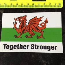 TOGETHER STRONGER WALES FOOTBALL RUGBY CAR CAMPER CARAVAN CYMRU WELSH STICKER