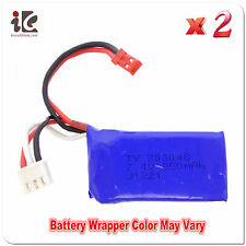 2X BATTERY 7.4V 850MAH FOR WLTOYS V 912 RC HELICOPTER SPARE PARTS V912-21 - USA