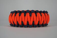 550 Paracord Survival Bracelet King Cobra Navy Blue/Safety Orange Camping