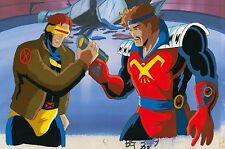 90s Marvel X-MEN Cyclops CORSAIR Fighting GUN Starjammers Animation Cel Art