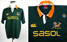 Vintage South Africa Rugby XL Official Springbok CCC Jersey SASOL Canterbury