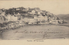MARSEILLE 21 la corniche photo lacour timbrée 1903