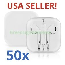 50x LOT Earpods Earphones Earbuds Headsets Remote & Mic for Apple iPhone