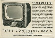 W5066 Televisore PD 102 - Trans Continents Radio- Pubblicità 1953 - Advertising