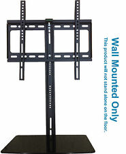 "TV Wall Mounted Bracket 20"" - 52"" with Glass Floating DVD Sky Xbox Support Shelf"