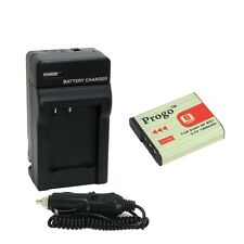 Battery + Charger For Sony NP-BG1 FG1 DSC-W90 W80 W300