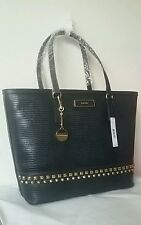 NWT DKNY Lizard leather Print navy with Studs Tote shoulder bag $ 300.00