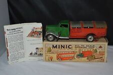 Tri-ang Minic Dust cart clock work toys in near mint in box with leaflat scarce