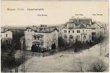 Dresden Weißer Hirsch Künzelmannplatz mit Villen Bertha Alke und Therese AK 1915