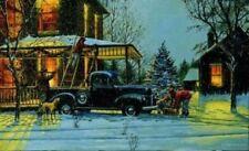 """Dave Barnhouse Print AN OLD FASHION CHRISTMAS 18"""" x 11"""""""