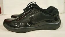 Mens PRADA Calzature Uomo Sneaker Shoe PS0906 BLACK Leather & Mesh $295 US 8.5