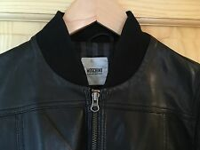 "Vintage MOSCHINO ""Cheap & Chic"" Leather Jacket....Deadstock, Bomber, Flight, MA1"