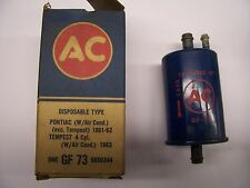 1961-1962 PONTIAC WITH AIR COND,EXCEPT TEMPEST ORGINIAL A/C FUEL FILTER