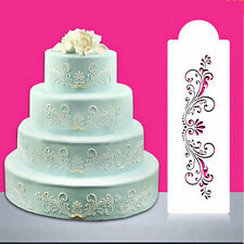 Lace Flower Border Edge Cake Stencil Decorating Sugarcraft Fondant Baking MC