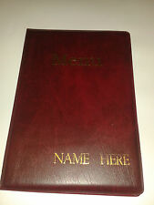 TEN (10) A5 MENU FOLDERS IN BURGUNDY WITH YOUR BUSINESS NAME EMBOSSED IN GOLD