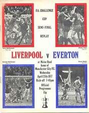 Liverpool v Everton 27 Apr 1977 at Man City FA CUP SEMI-FINAL REPLAY PROG