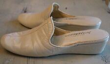 Vintage Oomphies Made in Spain Bone Leather Wedge Heel Slippers