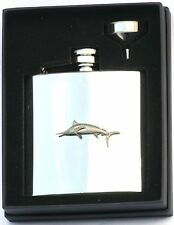 Marlin 6 oz Hip Flask Personalised Fishing Gift Boxed FREE ENGRAVING