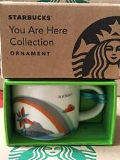 "NEW Starbucks 2013 HAWAII ""You Are Here"" YAH XMAS ORNAMENT 2 oz mini-mug"
