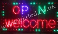 Flashing open -welcome led new window Shop signs