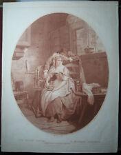 Rötelstich von Charles Knight: Verliebter Bauer 1787/Engraving Peasant in Love