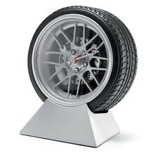 WHEEL TYRE DESK TOP SIDE BED CLOCK STYLISH CAR GIFT CHRISTMAS PRESENT GADGET