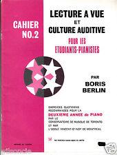 Lecture à vue et culture auditive pour les étudiants pianistes Cahier N 2 (1971)