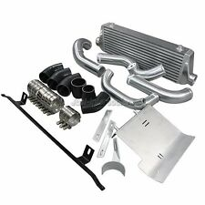"FMIC Intercooler Kit + 3"" Cold Intake Pipe +HeatShield For 02-05 Audi A4 B6 1.8T"