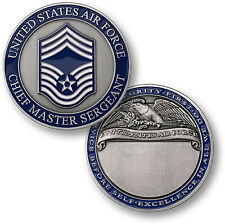 USAF Chief Master Sergeant E-9 Challenge Coin CMSgt Rank United States Air Force