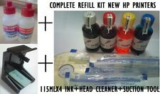 ALL IN 1 SUCTION TOOL + HEAD CLNR + 115MLx4 ML REFILL INK HP UNIVERSAL INK