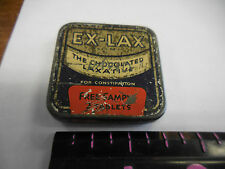 Ex Lax Free Sample '50s Two Tablet Chocolate tin