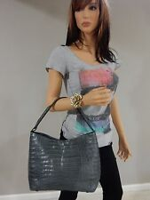 Nancy Gonzalez Gray Crocodile hobo shoulder bag GORGEOUS! SALE!
