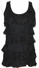 S GOTHIC STEAM PUNK GOTH GYPSY HIPPIE BOHO RUFFLE LACE EMO TANK BABY DOLL TOP