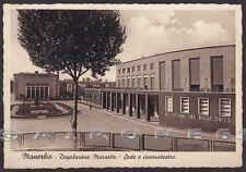 BRESCIA MANERBIO 05 DOPOLAVORO MARZOTTO - CINEMA TEATRO Cartolina viaggiata 1941