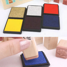 2Pcs Mini Rubber Stamp Sponge ink Pad Stamp For Office Supplier Multicolored Hot