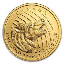 2014 Canada 1 oz Gold Howling Wolf .99999 BU (No Assay Card) - SKU #85957