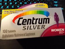 Centrum Silver Women Multivitamin/Multimineral Supplement 100 Count - EXP 07/18