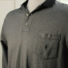 Ralph Lauren POLO GOLF Mens XL Black Gray Long Sleeve Soft Cotton Pocket Shirt