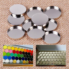 10pcs 2.7cm 26mm Women Empty Eyeshadow Make Up Powder Pot Storage Round Tin Pans