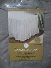 DreamScape Twin Ruffled Bedskirt 200TC Percale Frost Gray